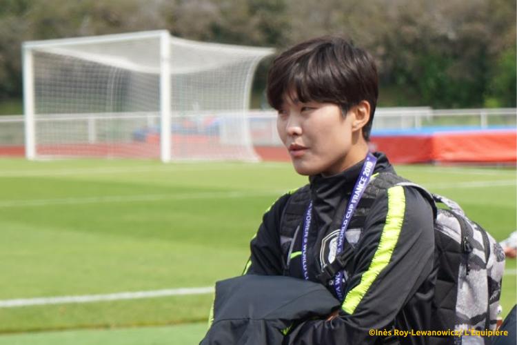 Ji So Yun allant s'entrainer avant le premier match de Coupe du Monde 2019