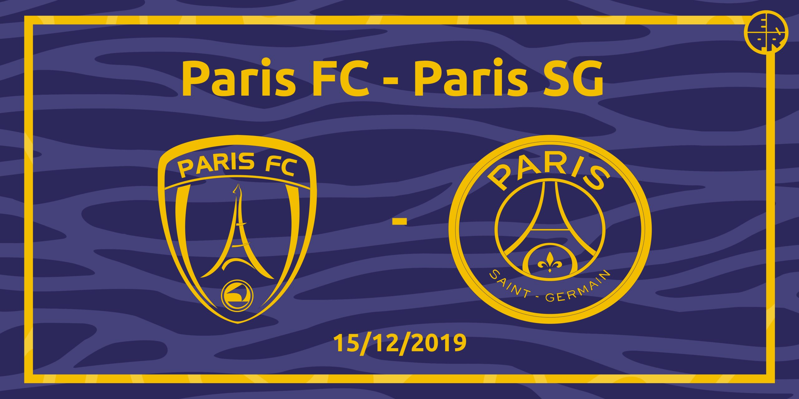 Visuel paris fc - PSG 15/12/2019