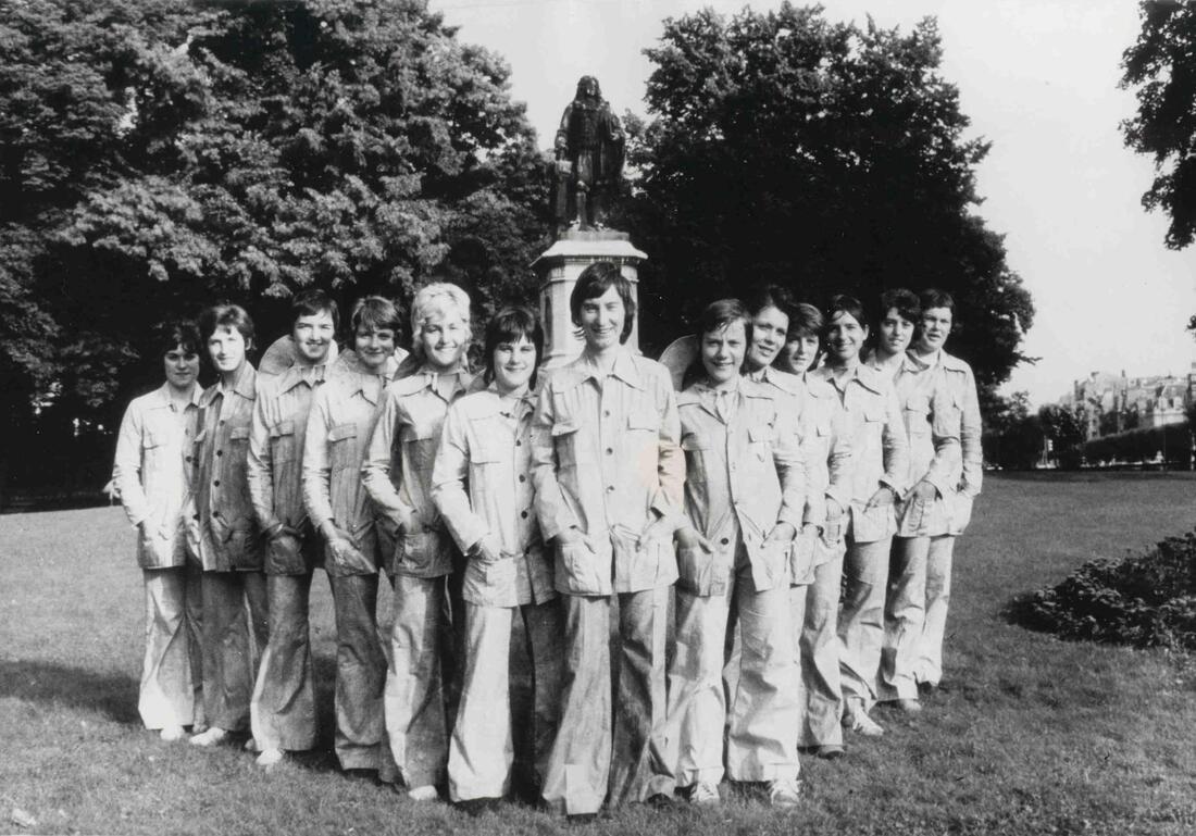 L'équipe de France square Colbert à Reims, 1970