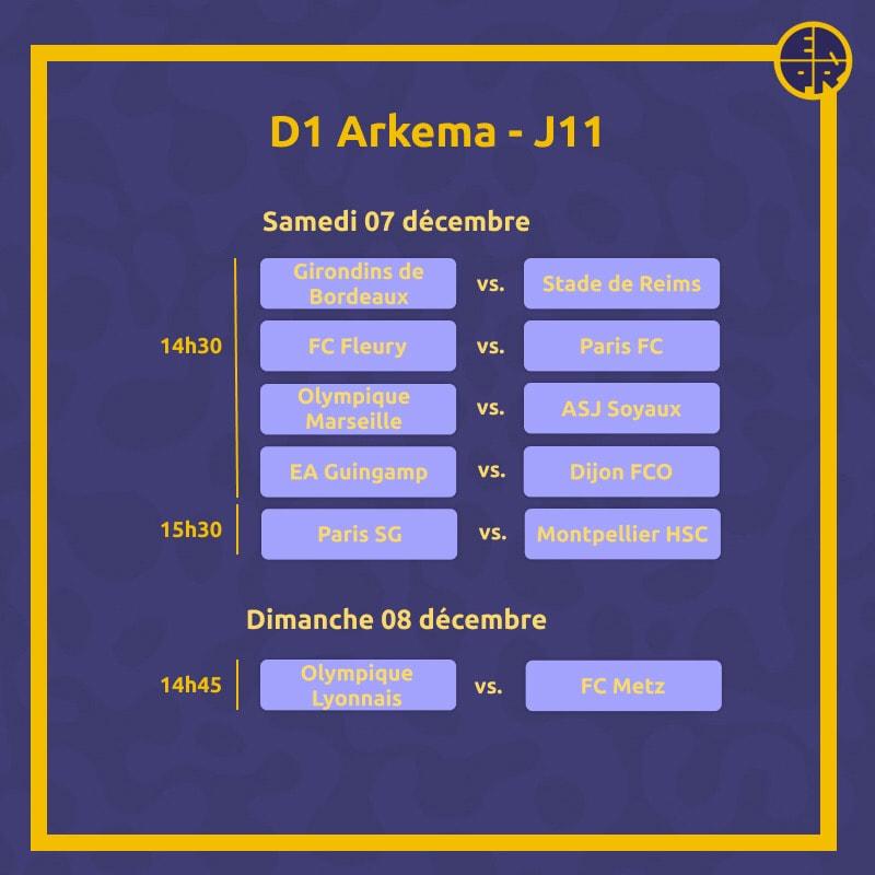 calendrier D1 Arkema J11