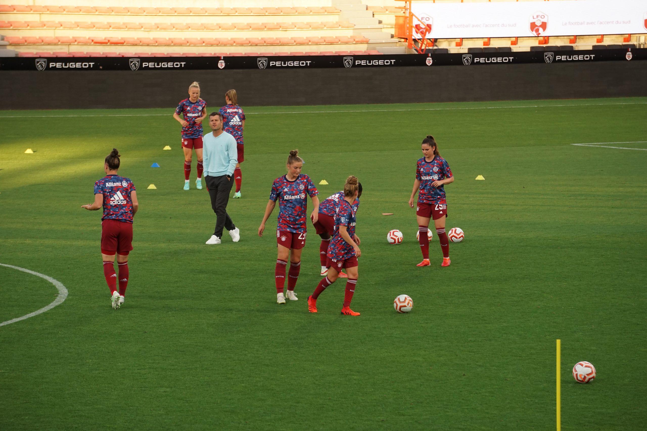 Entrainement du Bayern à la Amos Cup