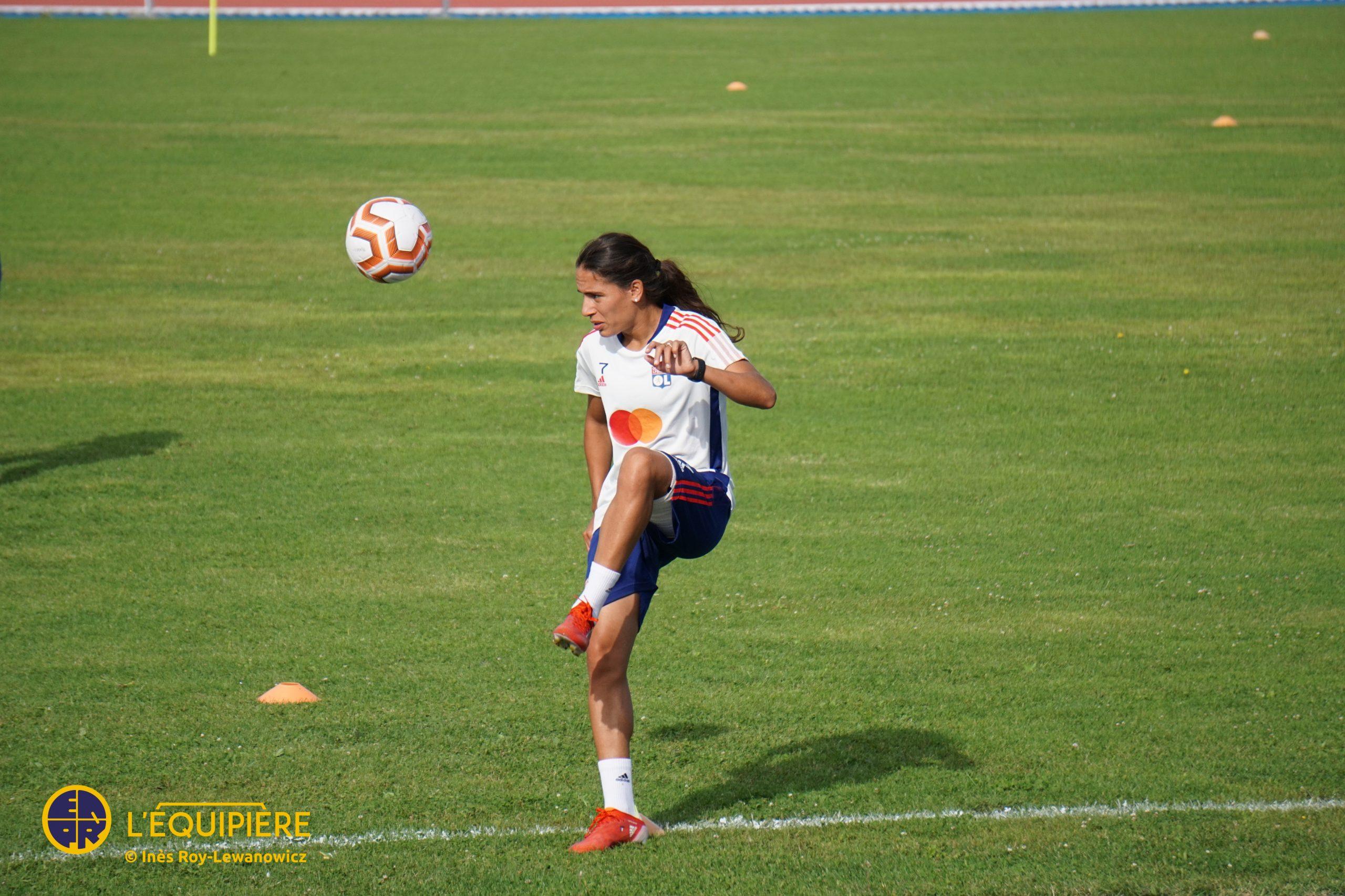 Amel Majri - entrainement OL